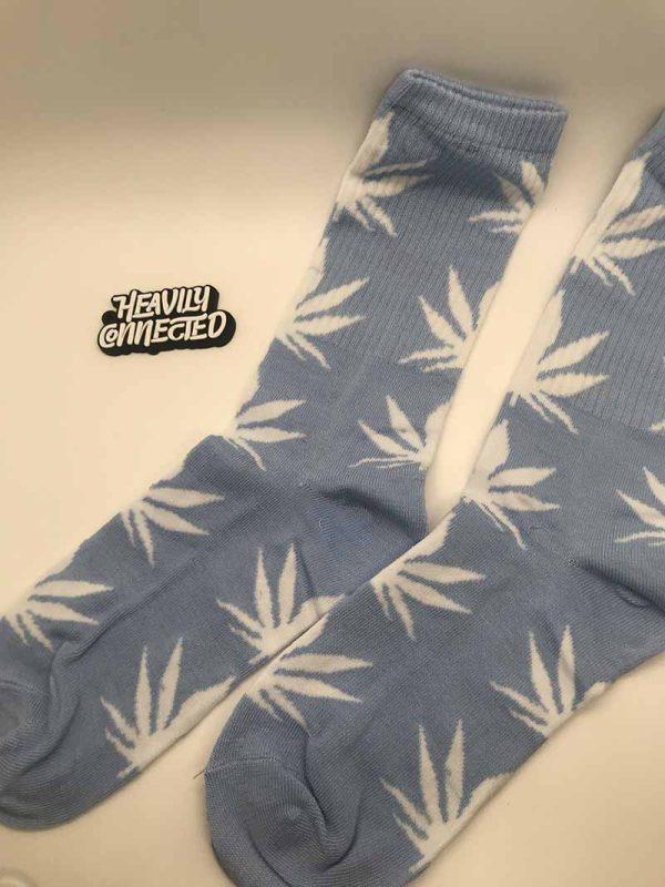 Grey Marijuana socks
