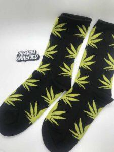 Weed Socks Yellow Leafs